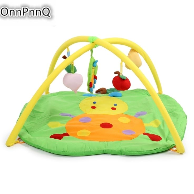 Hot Baby Soft Play Mat Apple Gym Blanket with Frame Rattle Crawling Toy For Educational Soft Sports 2017 #Affiliate