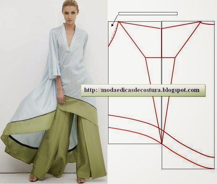Esta túnica branca é fácil de fazer, em termos de corte não tem muito que saber. Costura para principiantes. Este tipo de modelos exigem pouco...