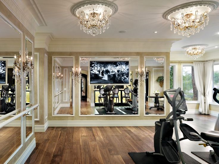 Home Gym Designs For Walls   Decorating Ideas For Arresting Home Gym  Traditional Design Ideas .