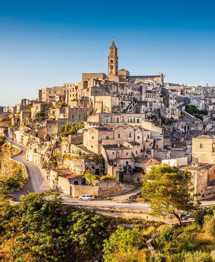 Ancient Town Of Matera Si Di At Sunrise Basilicata Southern Italy