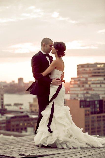 NYC Wedding: In Love, Bride Magazines I, Bridal Hair Chignons, Wedding, Beautiful Dresses, Rooftops Photos, Bows, I'M, Hotels Ni