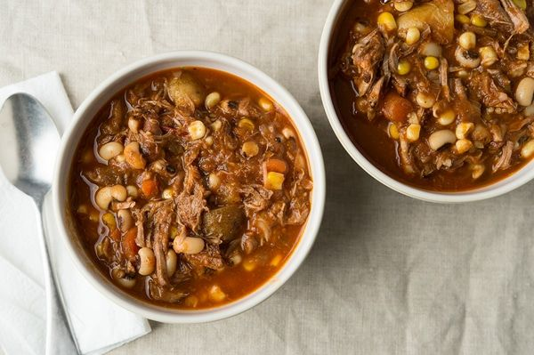 A recipe for a classic Kentucky burgoo, a hearty stew always made with several meats, in this case pheasant, squirrel and venison.