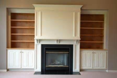 Built in bookshelves next to fireplace google search for Bookcases next to fireplace