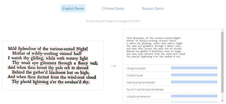 Tesseract.js Brings Image OCR Translation to Browsers  Design hongkiat.com