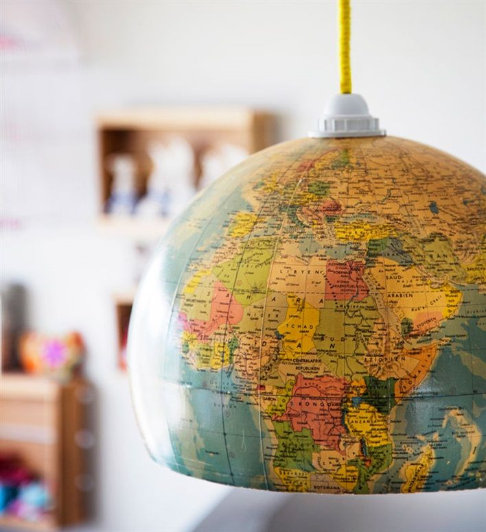 globe covering for a pendant lamp