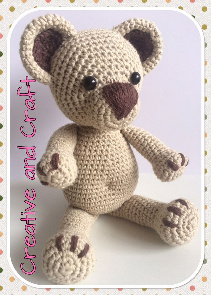 Patrón oso Teddy amigurumi. Patrón para descargar gratuitamente desde nuestra pagina web con tan solo un click de tu ratón