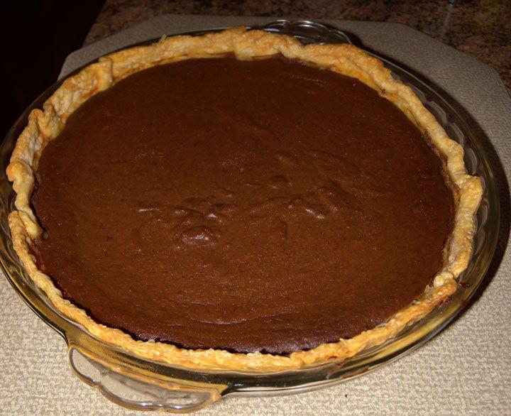 chocolate pumpkin pie | dessert | Pinterest
