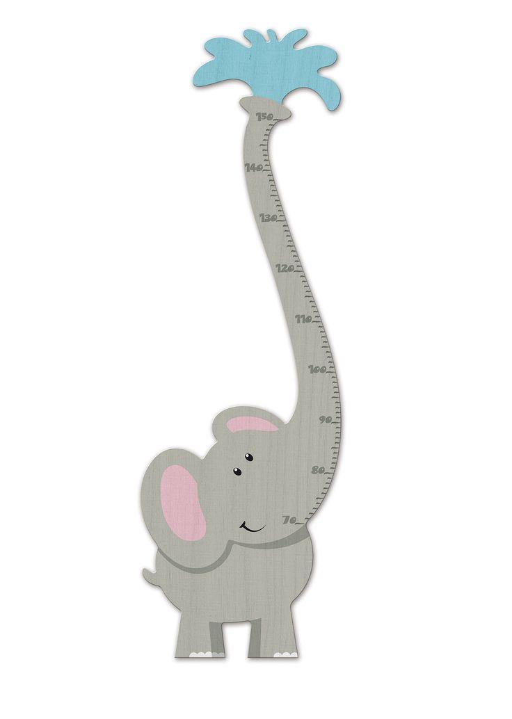 Weizenkorn Wooden Height Chart, Elephant