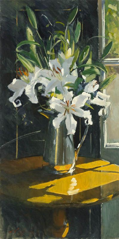 Paul Rafferty   Lilies and Silver #Art #Painting If you have EVER tried to paint a star gazer lily, you will understand...