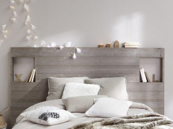 Tete de lit en lambris: