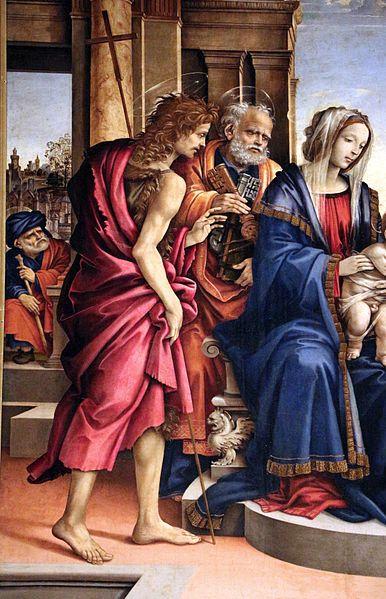 Filippino Lippi - Matrimonio mistico di santa Caterina di Alessandria, dettaglio - 1501 - Bologna, chiesa di San Domenico