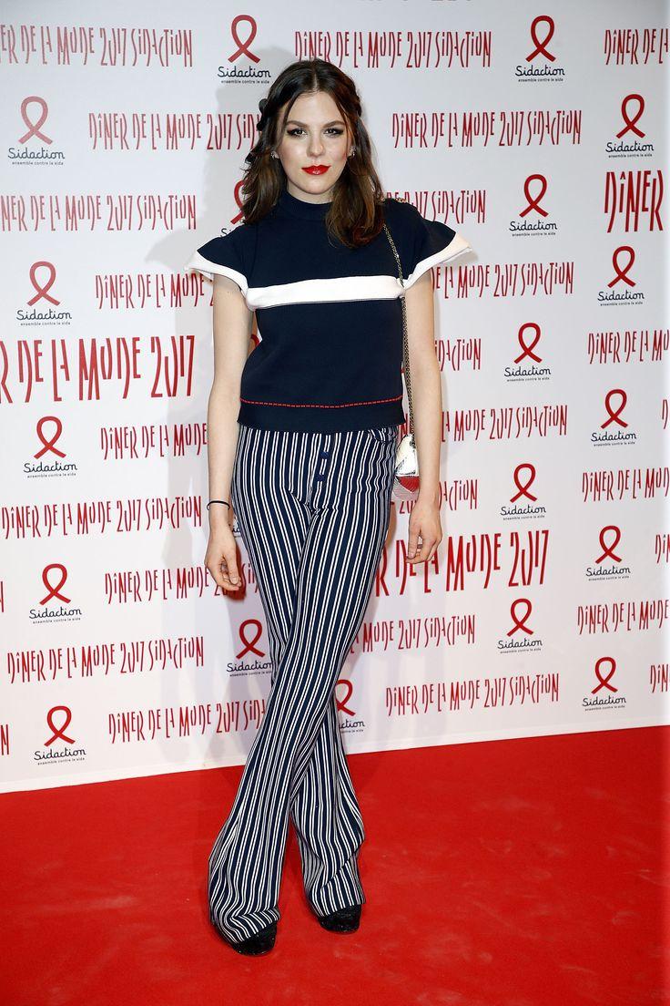 Gorgeous Morgane Polanski wore total look Sonia Rykiel to the Sidaction  Gala dinner held in Paris