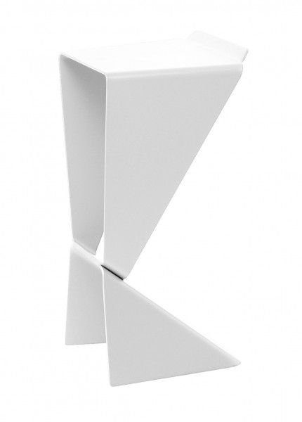 Sgabello alto Icon Bianco B-LINE Matthias Demacker