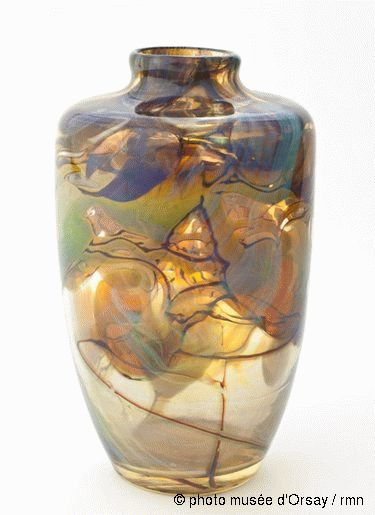 Louis Comfort Tiffany (1848-1933). Vase. 1915. Favrile glass. Musée d'Orsay - Paris - France [previous pinner's caption]
