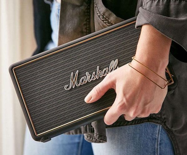 Introducing the Stockwell Bluetooth Travel Speaker, the smallest speaker made by the iconic Marshall brand.