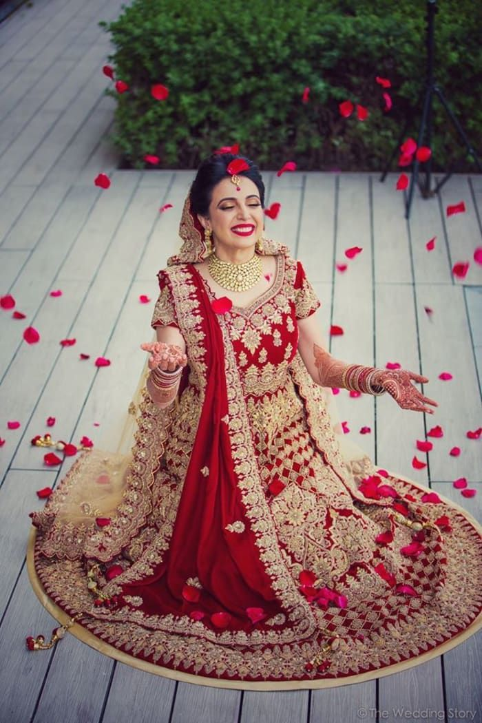 Bridal Wear - The Stunning Bride! Photos, Hindu Culture, Beige Color, Destination Wedding, Bridal Makeup, Mangtika pictures, images, vendor credits - The Wedding Story, WeddingPlz