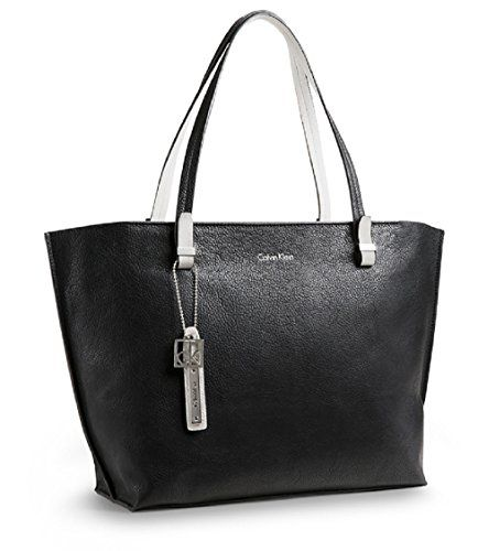 Calvin Klein Womens Haley City Per Tote Bag Handbag Black