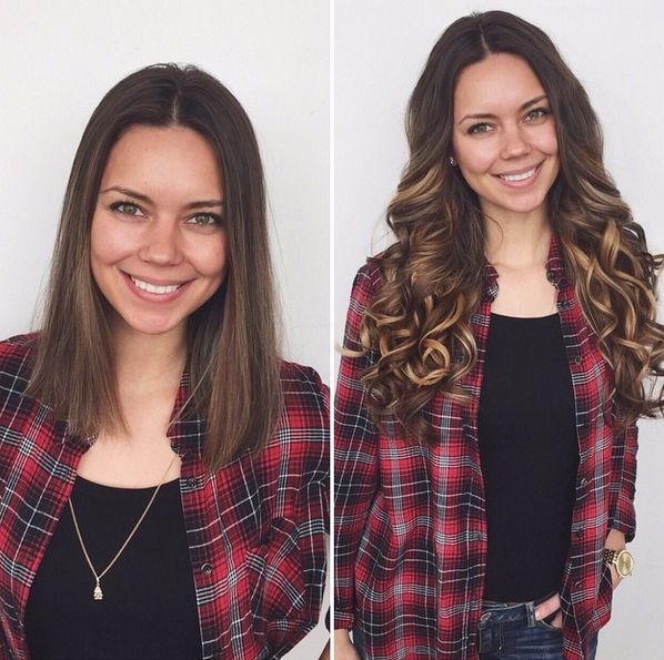99 best luxy hair transformations images on pinterest blondes what a transformation change up your look by clipping in chestnut brown and dirty blonde pmusecretfo Images