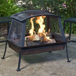 Wood Burning Fire Pits on Hayneedle - Wood Fire Pit Table