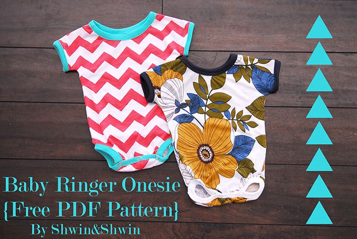 Shwin&Shwin: Baby Ringer Onesie {Free PDF Pattern} --- good pattern.  I had problems with snaps, so used Velcro instead (gift for K.P.)