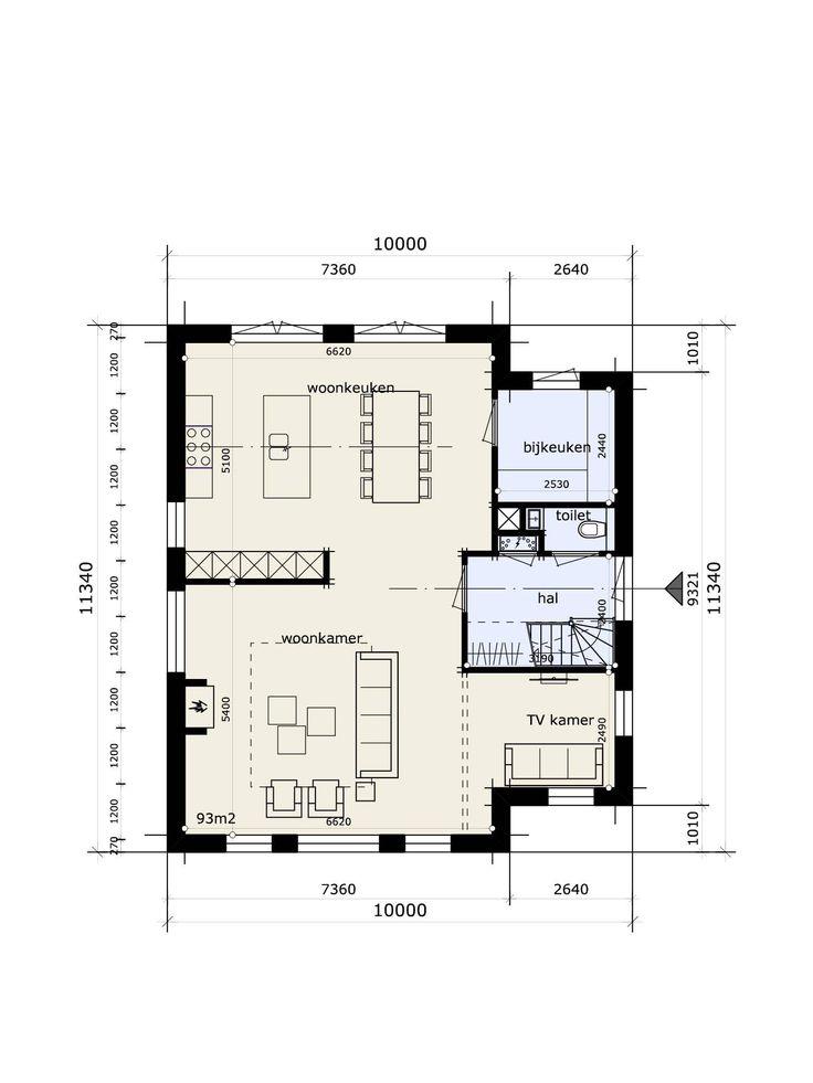 25 beste idee n over boerderij interieur op pinterest boerderijkeukens moderne boerderijen - Kamer indeling ...