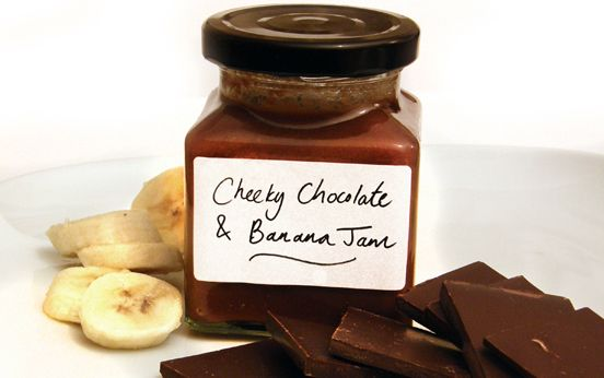 Chocolate and banana jam recipe - 5 ingredients, including a cheeky swig of amaretto, will produce this delicious jam! It takes 30 minutes, and will keep for 3 months - if it lasts that long!