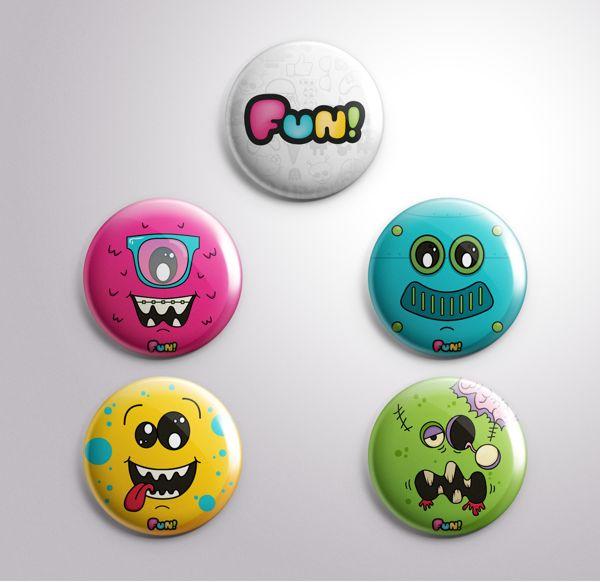 Bottons promocionais para Funtilidades Store #branding #graphicdesign #illustration #fun #bottons