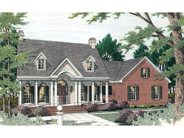 Babbage Southern Country Home  home  |  search by feature  |  house plan detail page : #592-084D-0006     © Copyright by designer/architect      Drawings and photos may vary slightly. Refer to the floor plan for accurate layout.           HOUSE PLAN #592-084D-0006