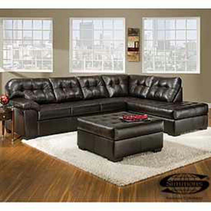 View Simmons® Faux Leather Manhattan Sectional Deals At Big Lots