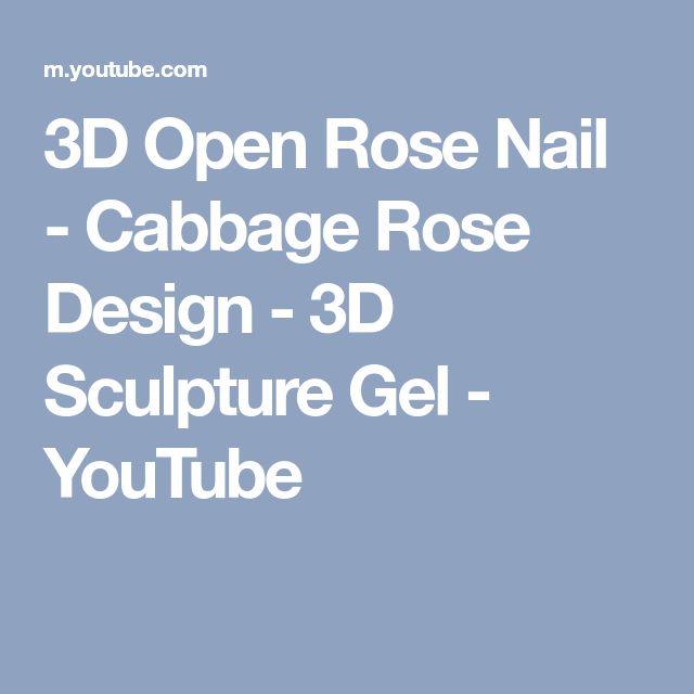 3D Open Rose Nail - Cabbage Rose Design - 3D Sculpture Gel - YouTube