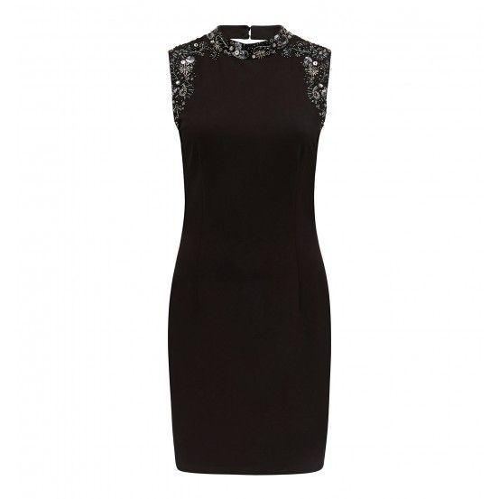 Emily embellished high neck dress