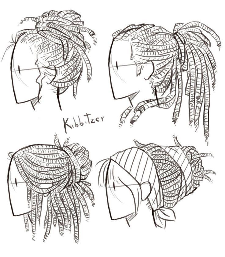 Dreadlocks Reference Sheet By Kibbitzer Drawing People Drawings