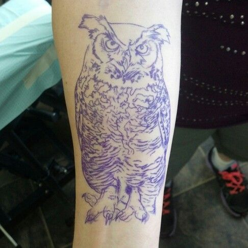 Great Horned Owl Black And Grey Tattoo 12 best images ...