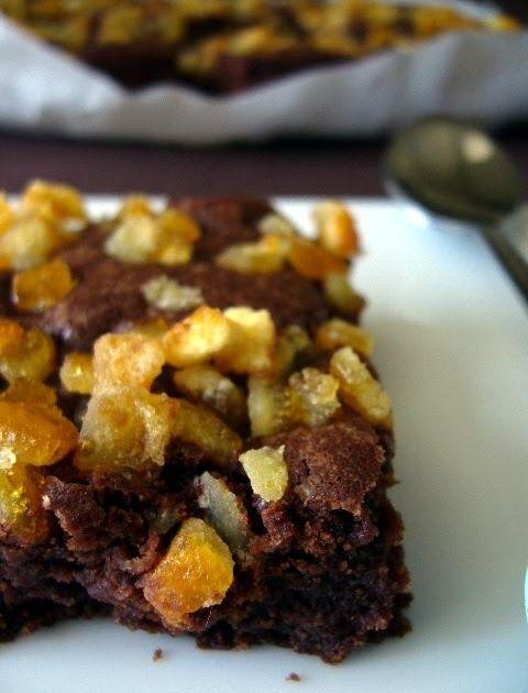 Dans la cuisine de Sophie: L'idée du week-end : brownie chocolat aux oranges confites