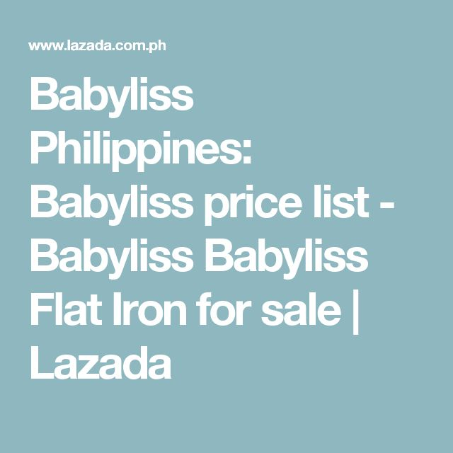 Babyliss Philippines: Babyliss price list - Babyliss  Babyliss Flat Iron  for sale   Lazada