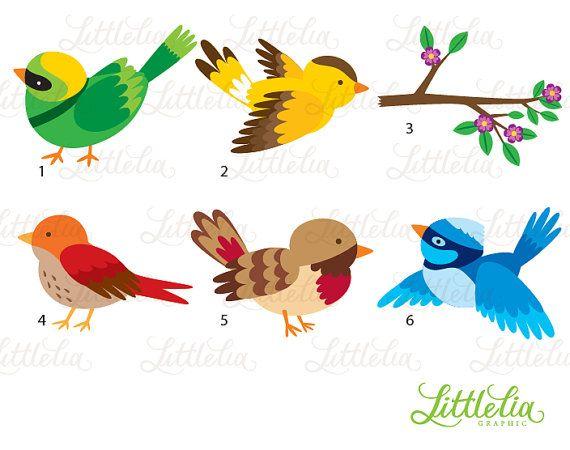 Little Bird Clipart Spring Bird Clipart 15087 Etsy Bird Clipart Clip Art Spring Birds