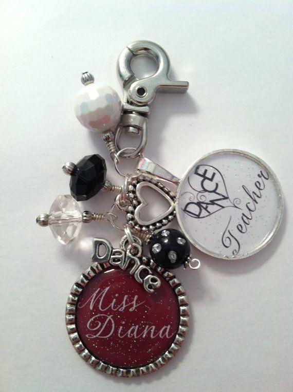 Dance Teacher Gift Personalized Key Chain by PreciousGirlsCrafts  Cute christmas gift for Celeste's dance teacher