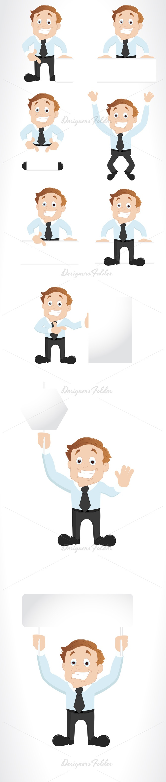 Corporate Cartoon Character Vectors and Mascots