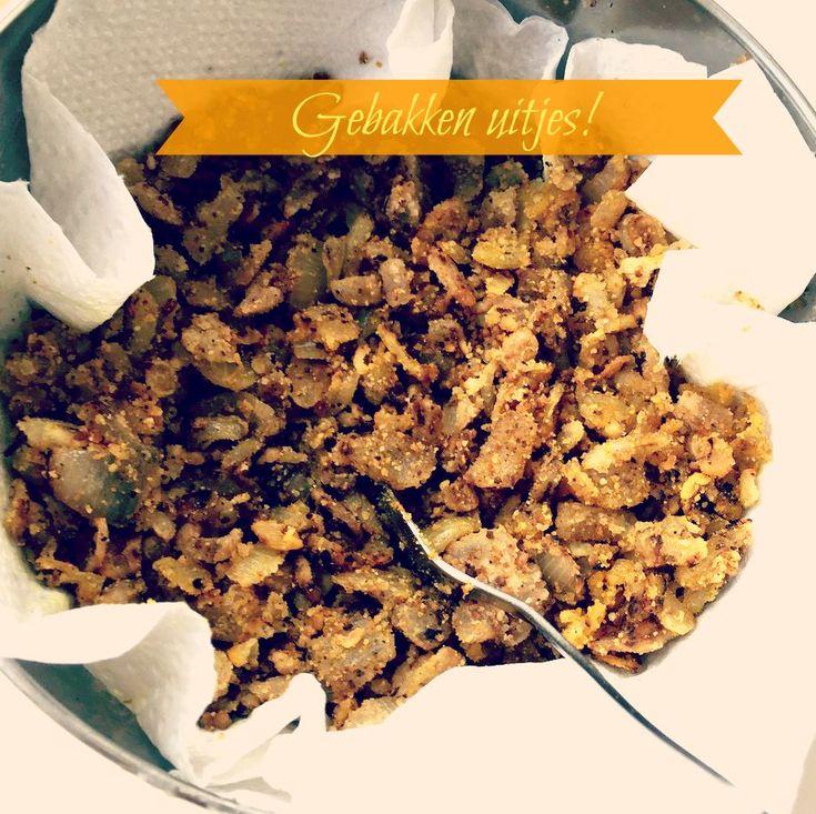 gebakken uitjes zelf maken : Zo maak je krokante gebakken ui voor op de nasi of andere rijst gerechten
