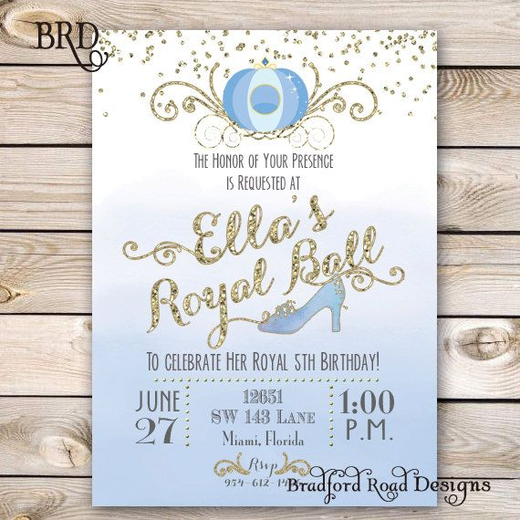 He encontrado este interesante anuncio de Etsy en https://www.etsy.com/es/listing/236935551/cinderella-invitation-cinderella-party