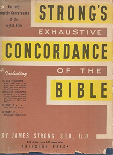 STRONG'S EXHAUSTIVE CONCORDANCE OF THE BIBLE by JAMES STRONG http://www.amazon.com/dp/B000IF4XTG/ref=cm_sw_r_pi_dp_Tnu5ub1TKZ29M #amazon #superdealbooks