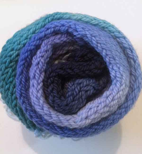 DK Bliss Hand-dyed Colour Transitions 100g 8 ply Wool Yarn Ocean Deep Blue Green by HeatherMaid on Etsy