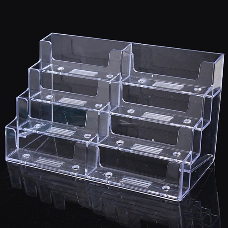 8 Lattice Multilayer Card Storage Box Desktop Clear Transparent Acrylic Business Card Holder Countertop Display Stand Hot #Affiliate