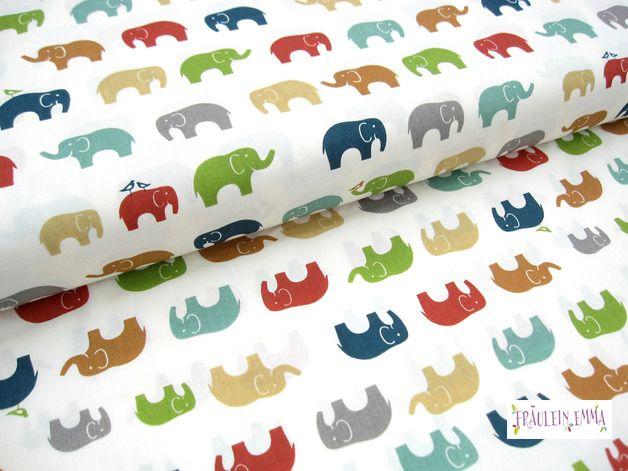 bio stoffe birch fabrics just for fun elefanten bio ein designerst ck von fraeulein emma2. Black Bedroom Furniture Sets. Home Design Ideas