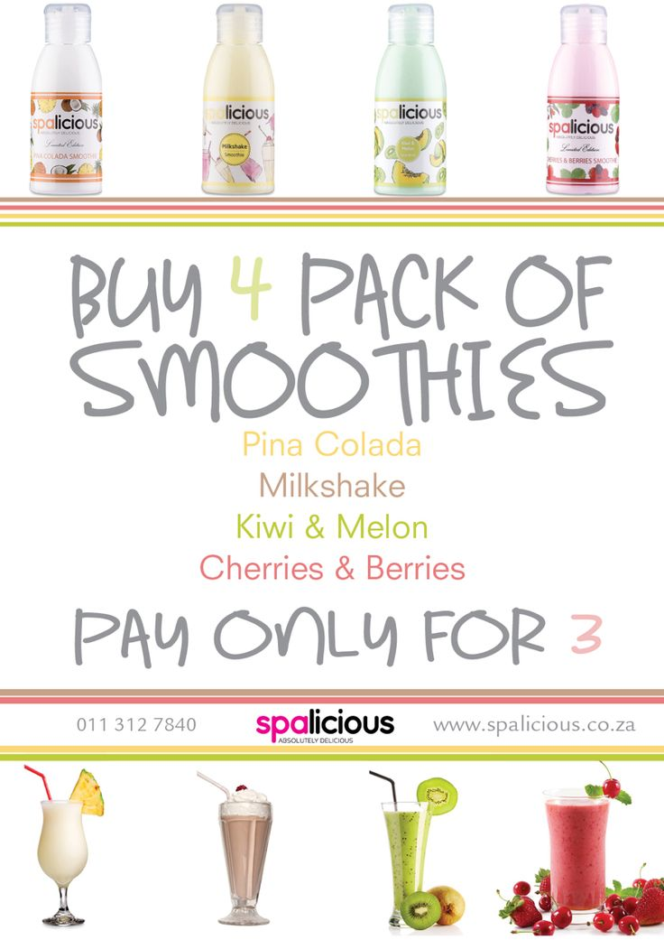 Only In march this delicious smoothie lotion pack available at participating stockiest #spalicious