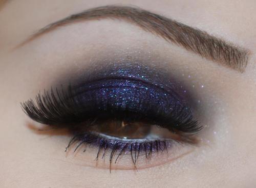 Purple + black