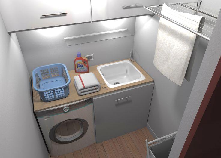 Ricavare secondo bagno, lavanderia e armadio a muro da un solo bagno - Cose di Casa