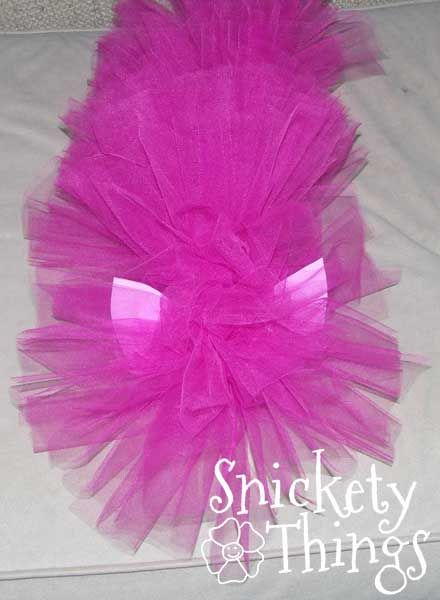 Snickety Things: Becoming a Pony, My Little Pony costumes, this is a good idea.  I had already planned on using tulle for Evie's wig, and I'm just going to attach to one of those stretchy bands or crochet hats so I can clip in the ears and gala hat