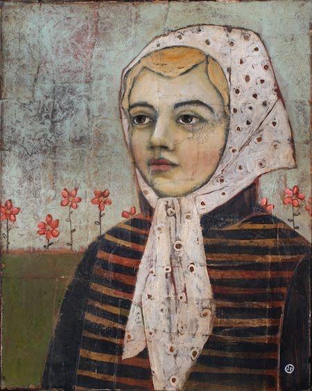 Her White Scarf ~For Sale | Jane Spakowsky (DesRosier)