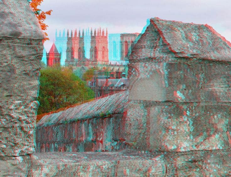 https://flic.kr/p/GJWvKV | City-walls York in anaglyphs | anaglyph stereo red/cyan